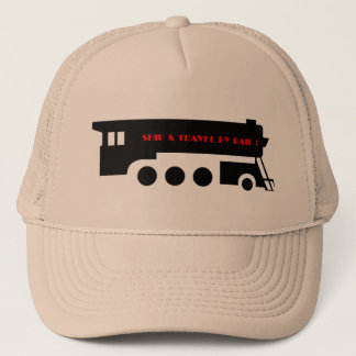 Ship and Travel By Railroad Train Trucker Hat