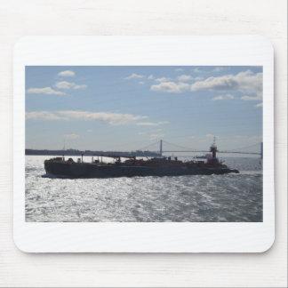 Ship approaching Manhattan Mouse Pad