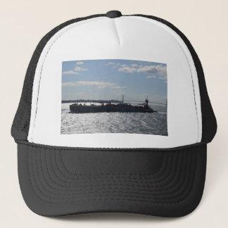 Ship approaching Manhattan Trucker Hat