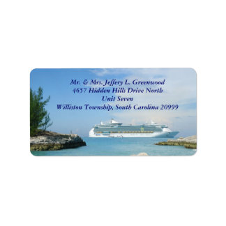 Ship at CocoCay Address Labels