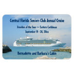 Ship at CocoCay Cabin Door Marker Rectangular Photo Magnet