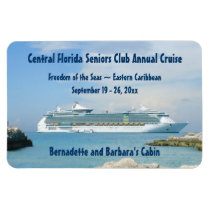 Ship at CocoCay Custom Cabin Door Marker Magnet