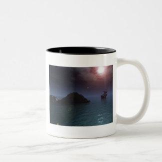 Ship At Night Mug