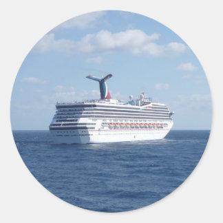 Ship at Sea Classic Round Sticker