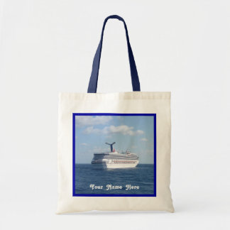 Ship at Sea Customize with Name Tote Bag