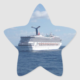 Ship at Sea Star Sticker