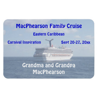 Ship at Sea Stateroom Door Marker Rectangular Photo Magnet