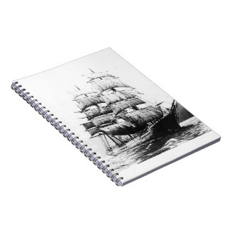 Ship - Black and White Notebook