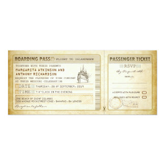 ship boarding pass wedding tickets-invites & rsvp card
