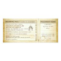 ship boarding pass wedding tickets-invites &amp; rsvp 4&quot; x 9.25&quot; invitation card (<em>$2.57</em>)