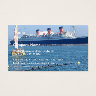 Ship Boat Queen Mary Ocean Liner Business Card