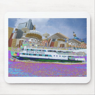 Ship Boat Sail New York Statue of Liberty Islands Mouse Pad
