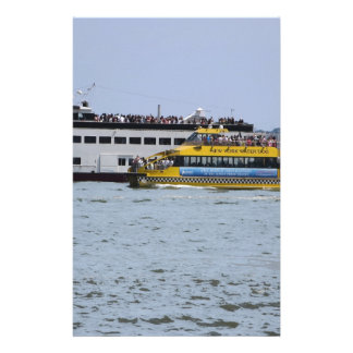 Ship Boat Sail New York Statue of Liberty Islands Stationery