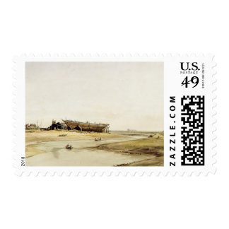 Ship Building (w/c on paper) Postage Stamp