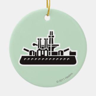 Ship Ceramic Ornament