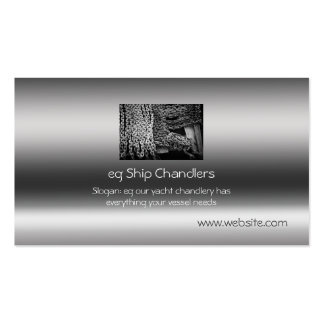 Ship Chandlers, Anchor Chain, metallic-effect Business Card