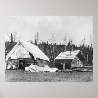 Ship Creek, Alaska, early 1900s Poster