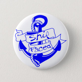 Ship Faced Anchor  facebook.com/USAPatriotGraphics Pinback Button