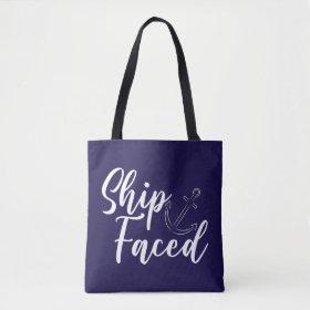 Ship Faced Nautical Tote Bag