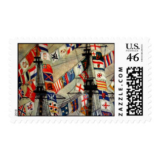 Ship Flags Postage