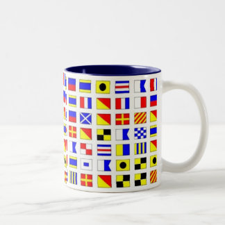 SHIP FLAGS Two-Tone COFFEE MUG