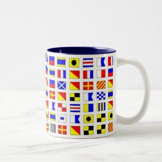 SHIP FLAGS Two-Tone COFFEE MUG