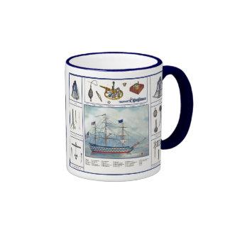 Ship & Furniture Ringer Coffee Mug