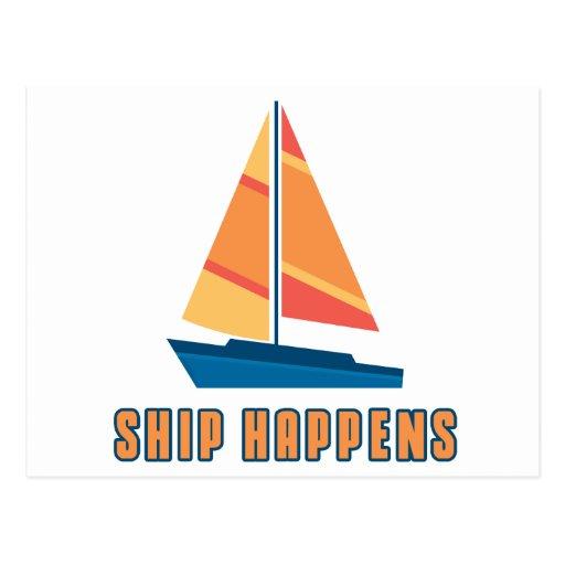 Ship Happens Postcard
