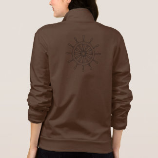Ship helm with name (back) printed jacket