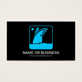 ship icon business card