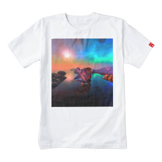 Ship in a awesome sunset zazzle HEART T-Shirt