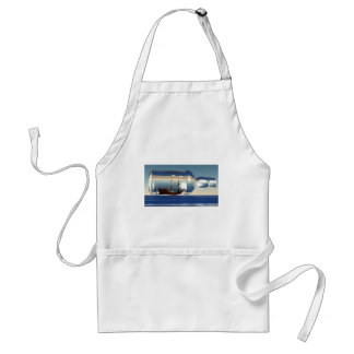ship in a bottle 3d adult apron