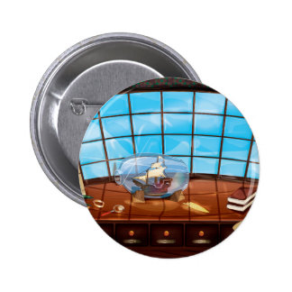 Ship in a Bottle on the sea 2 Inch Round Button