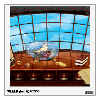 Ship in a Bottle on the sea Room Graphics