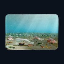 Ship-in-a-Bottle Wreck Bathmat