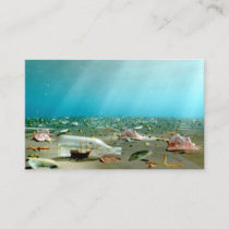 Ship-in-a-Bottle Wreck Bookmarks Business Card