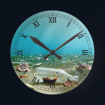 Ship-in-a-Bottle Wreck Clock