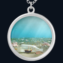 Ship-in-a-Bottle Wreck Necklace