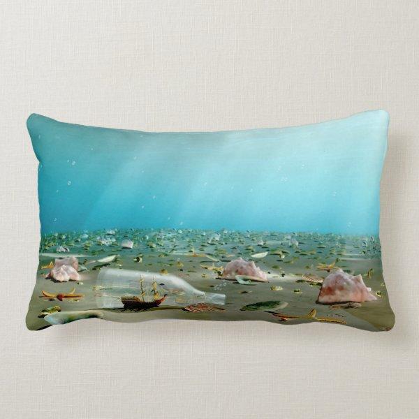 Ship-in-a-Bottle Wreck Pillow