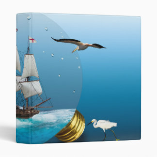 Ship in a light bulb binder