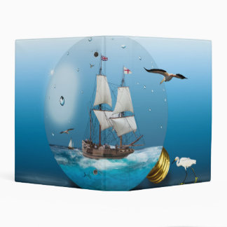 Ship in a light bulb mini binder