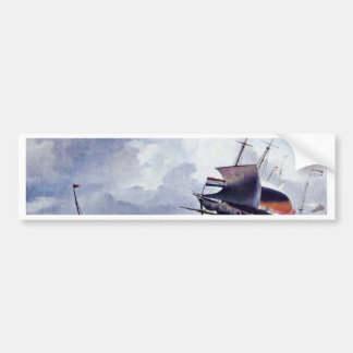 Ship In A Storm By Ludolf Bakhuizen (Best Quality) Bumper Stickers