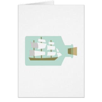 Ship In Bottle Card