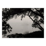 Ship in Fog Photo Art Print