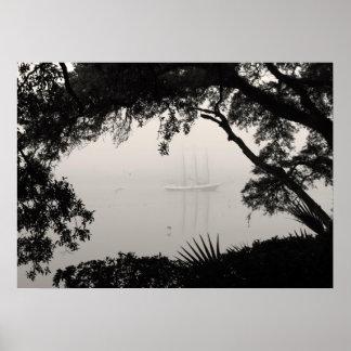 Ship in Fog Photo Art Print