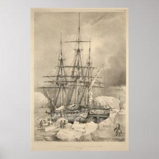 Ship in Ice Print