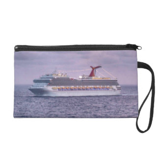Ship in Purple Travel Accessory Wristlet Purse