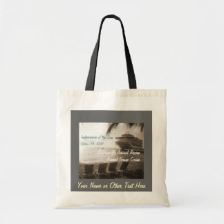 Ship in Sepia Customizable Tote Bag