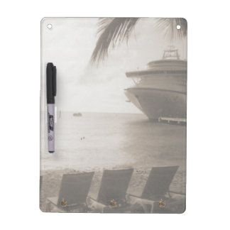 Ship in Sepia Dry-Erase Board