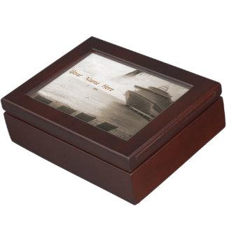 Ship in Sepia Memory Box